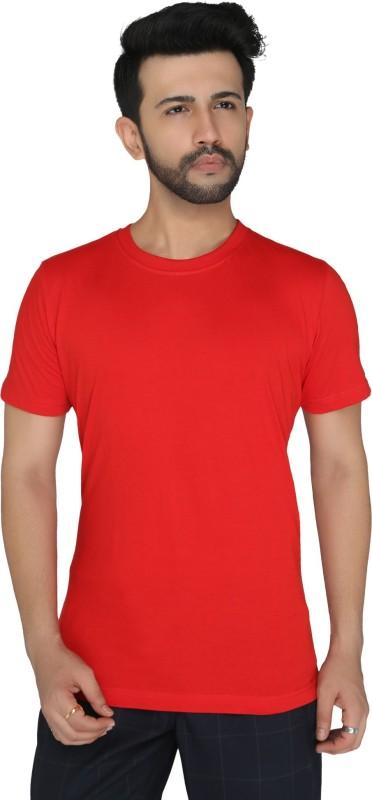 BLANCD Solid Men Round or Crew Black T-Shirt