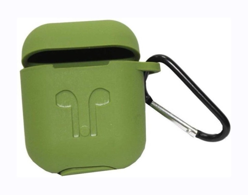 MOUSETRAPS Back Cover for Airpods Cases leather Shockproof Protective Case Cover/Pouches for Apple Airpods(Green, Shock Proof, Silicon)