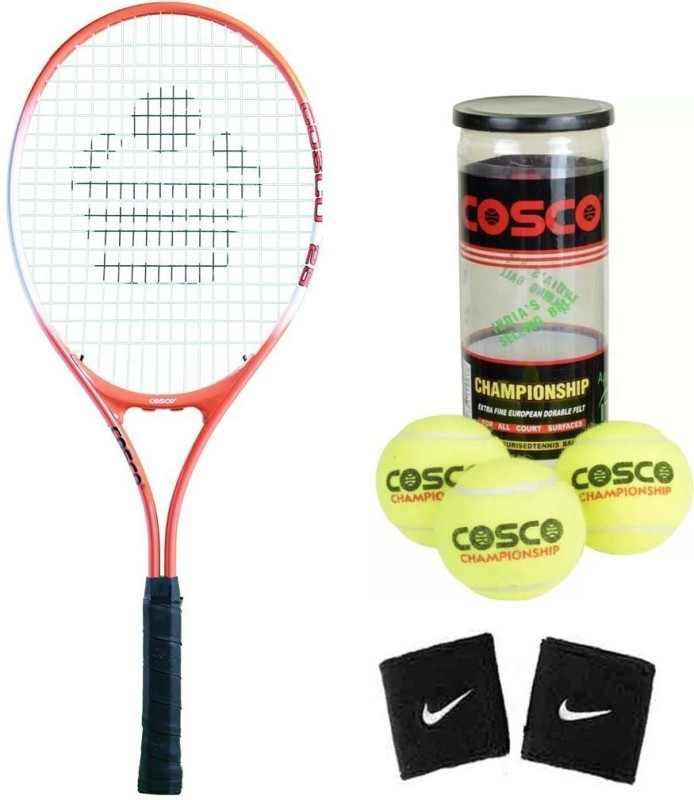 Cosco Drive 25 ( Junior Size - 25 Inch) (Age Group - 8 to 10 Years) Tennis Racquet ( Color on Availability) with Tennis Ball