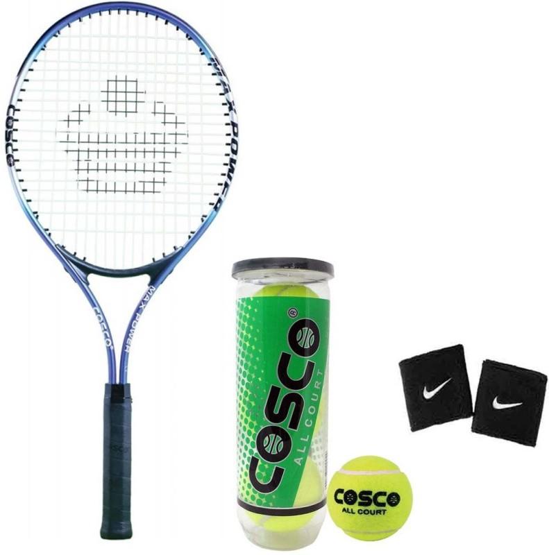 Cosco Max Power Tennis Racquet WIth Tennis Ball