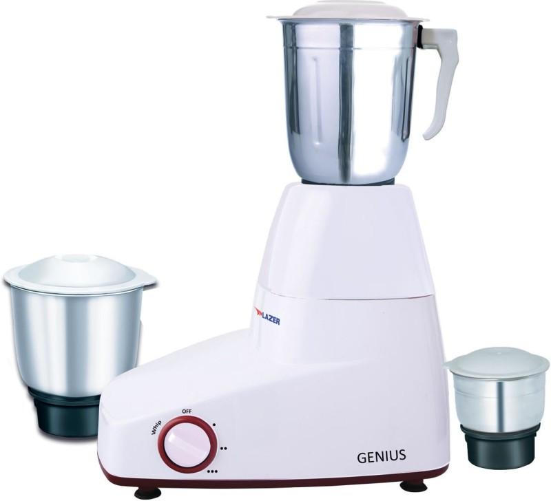 Lazer Genius 3 Speed Control Function 550 Mixer Grinder(White, 3 Jars)