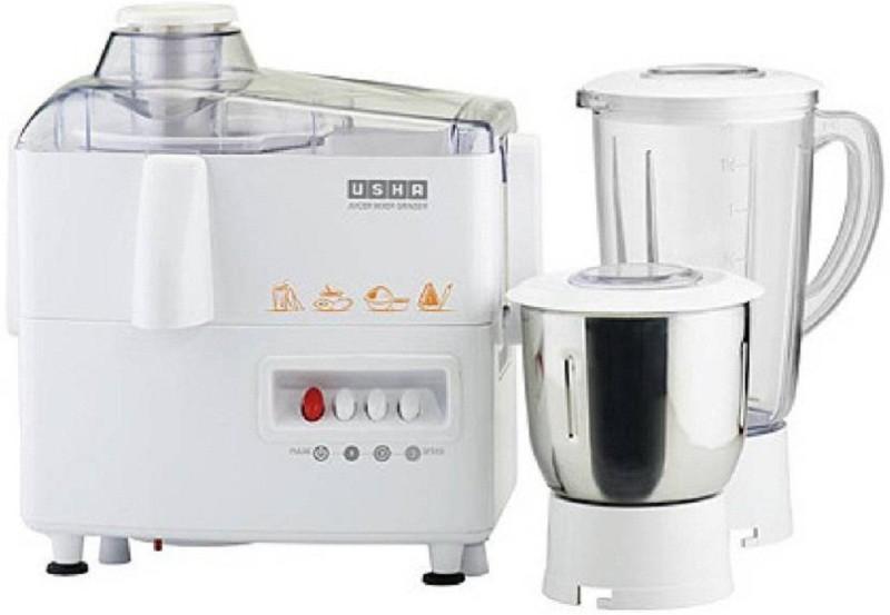 Usha 8956 3345 450-Watt Juicer Mixer Grinder with 2 Jars (White) 450 Mixer Grinder(White, 2 Jars)