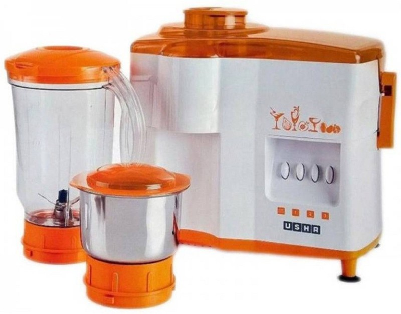 Usha 3442 450 W Juicer Mixer Grinder 600 Mixer Grinder(Orange, 2 Jars)