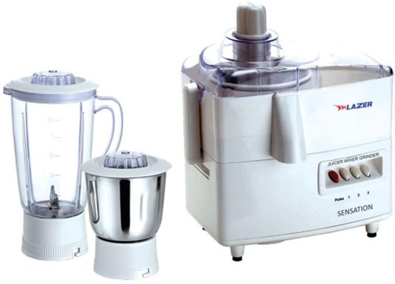 Lazer Sensation LZR_JMG_SENSTN 500 Juicer Mixer Grinder(White, 2 Jars)