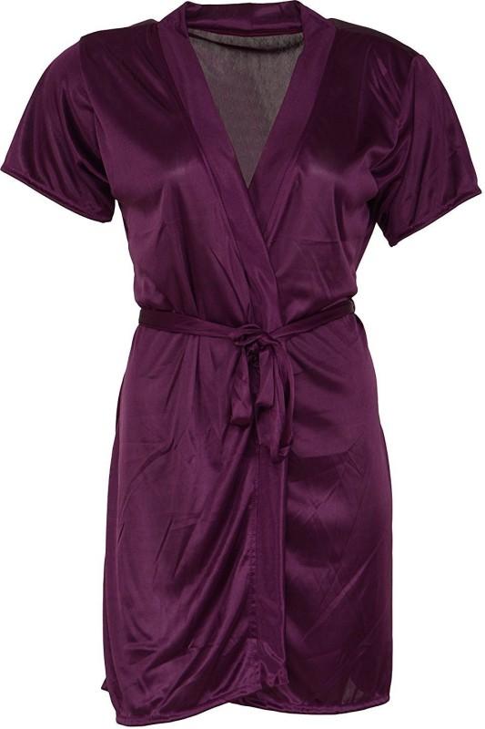 Shararat Women Nighty with Robe(Purple)