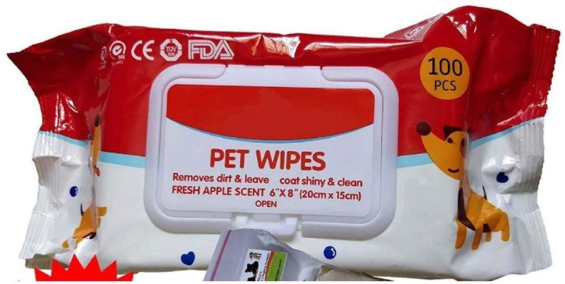 Wuff Wuff PET WIPES Pet Ear Eye Wipes(Pack of 100)