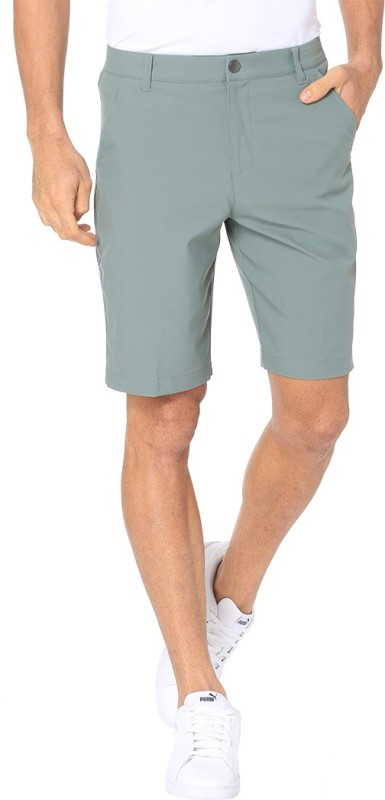 Puma Solid Men Green Basic Shorts