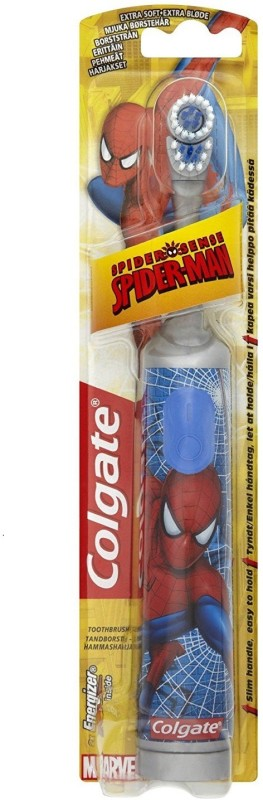 Colgate Kids Spider-Man Battery Power toothbrush Soft Toothbrush