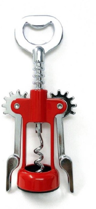 Ganapati Stainless Steel Bottle Opener Red Stainless Steel T-Type Corkscrew