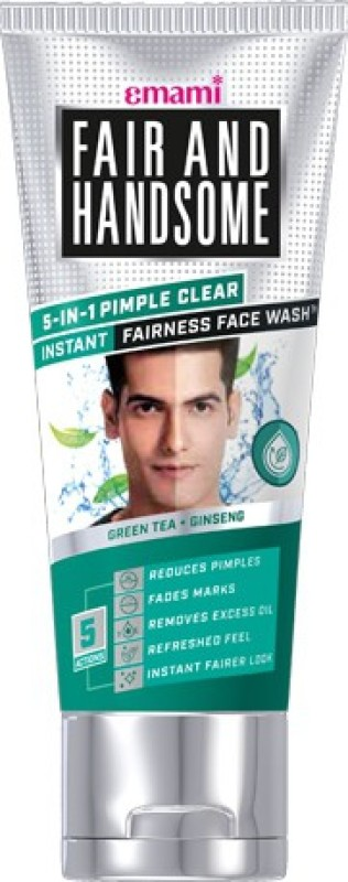 Fair and Handsome 5-in-1 Pimple Clear Instant Fairness Face Wash(100 g)