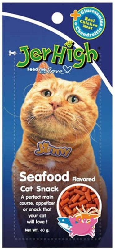 Jerhigh Food 35g. For Cat Sea Food Cat Treat(40 g, Pack of 6)