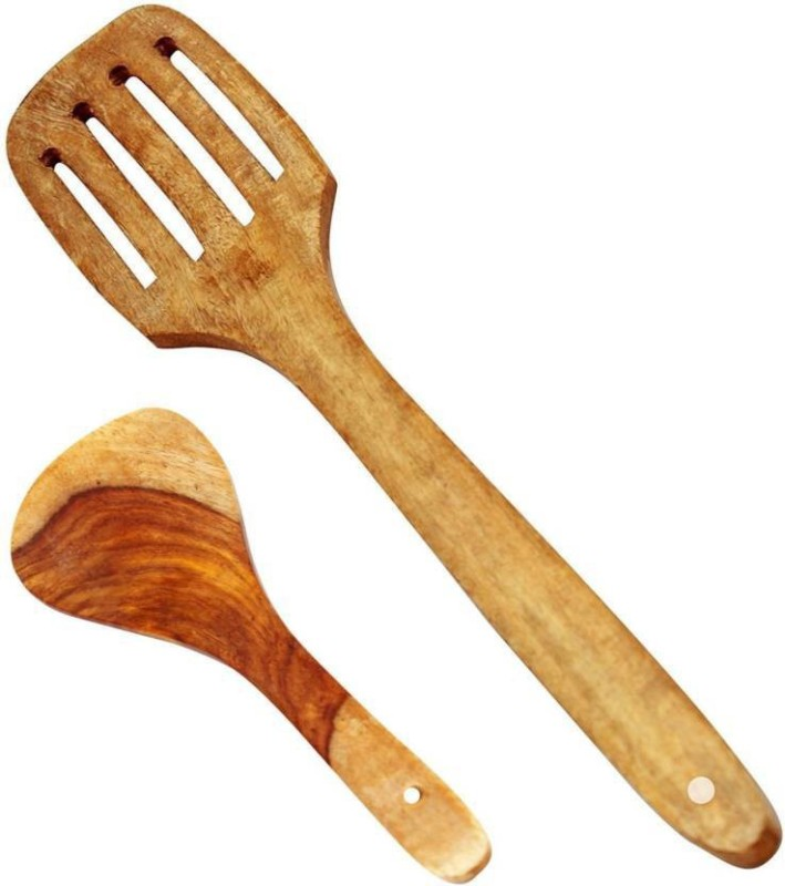 Aafiya handicrafts Af0270 Disposable Wooden Serving Spoon Set(Pack of 2)