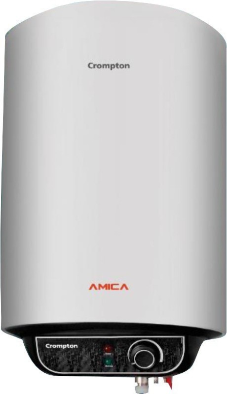 Crompton 15 L Storage Water Geyser(Black, White, Amica)