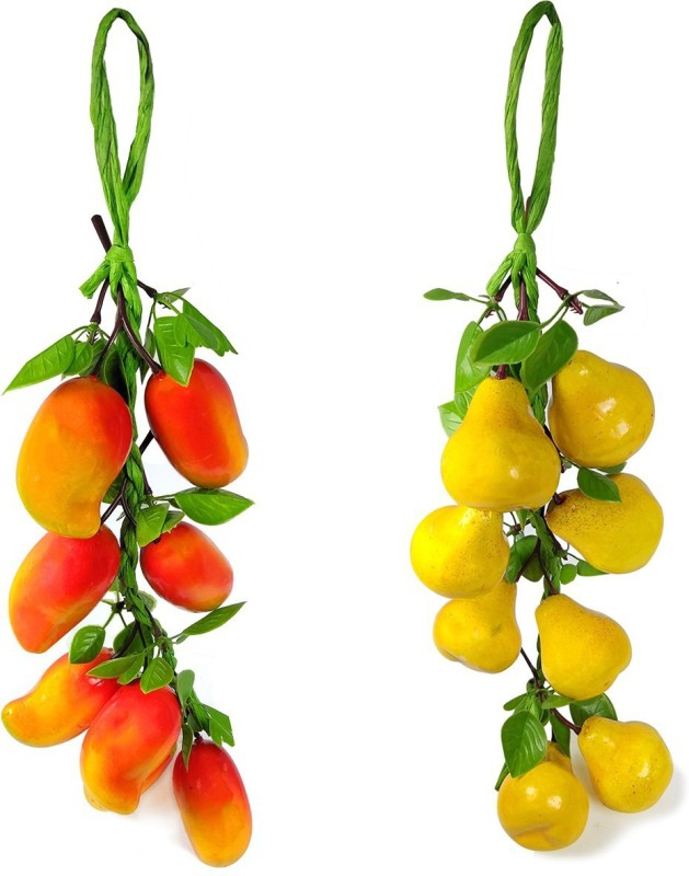 Reiki Crystal Products Artificial Mango With Pear for Kitchen Wall Hanging Decor Parties Restaurants Table Centerpiece Décor Pack of 2 pc Artificial Fruit(Set of 2)