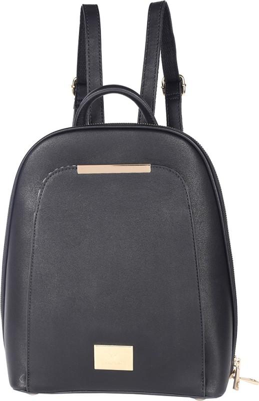 Allen Solly Women PU Black Backpack 21 L Backpack(Black)