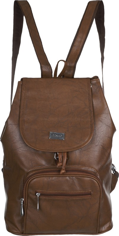 Rozen ROZ81-brown 20 L Backpack(Brown)
