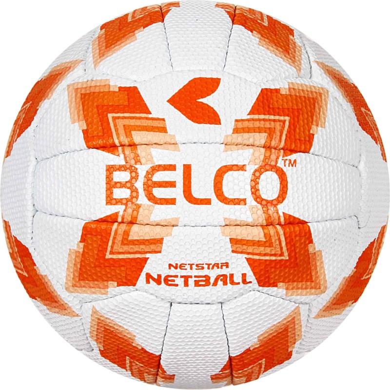 BELCO Sports NetStar Orange Netball Netball - Size: 5(Pack of 1, Orange)