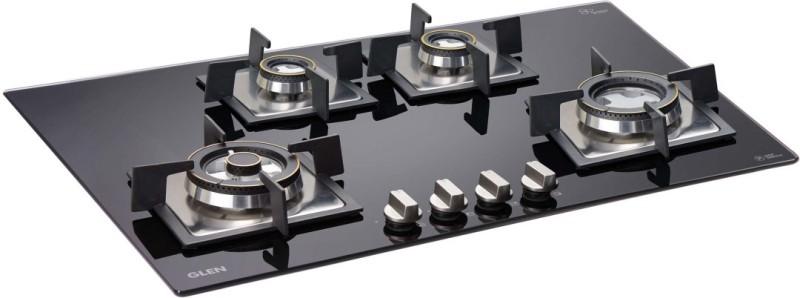 GLEN 4 Burner Built In Glass Hob BH1074SQDBTR Glass Automatic Gas Stove(4 Burners)