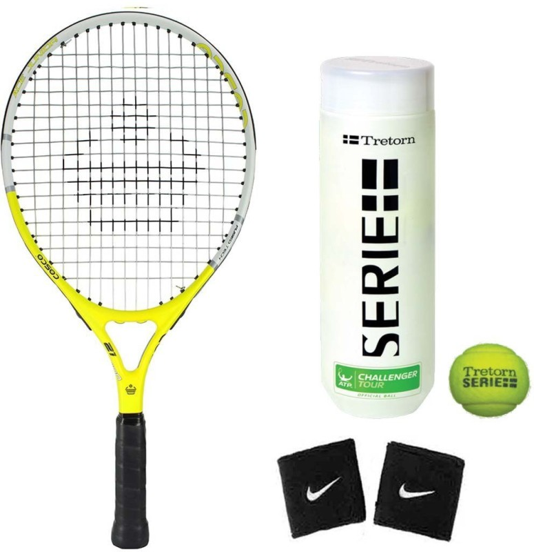 Cosco Ace 21 ( Junior Size ) ( Age Group 4 to 6 Years ) Tennis Racquet ( Color on Availability) with Tennis Ball