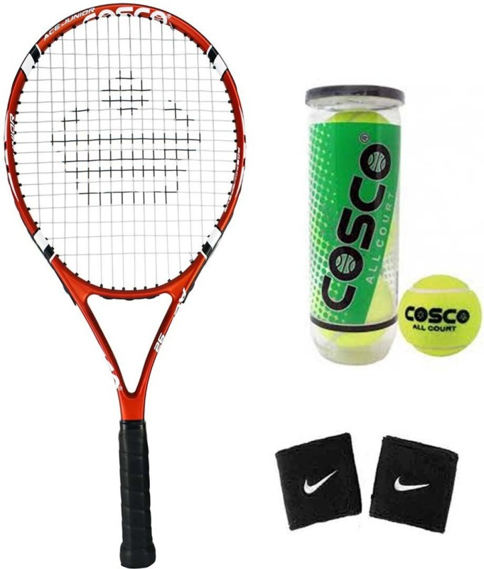Cosco Ace 26 ( Junior Size - 26 Inch) Tennis Racquet ( Color on Availability) with Tennis Ball