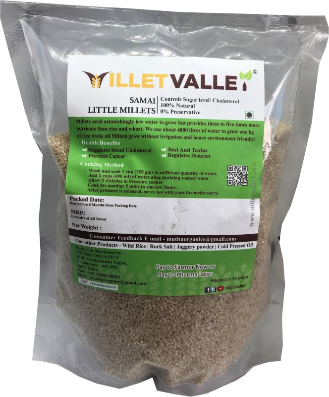 millet valley unpolished Samai/Kutki (Diabetic friendly) Little Millet(1800 g)