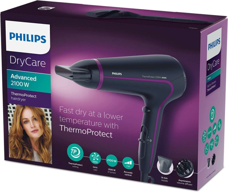 Philips Advance 2100w Hair Dryer(2100 W, Purple)