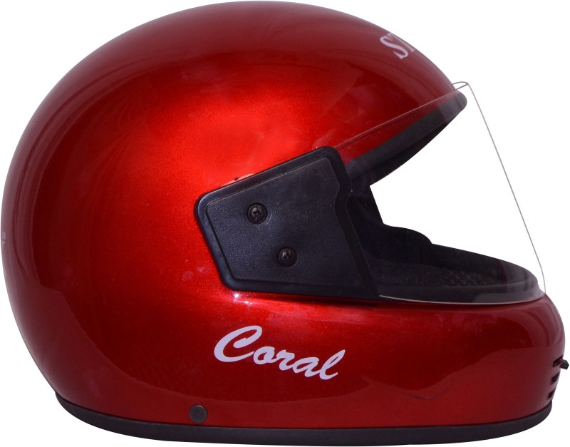 Stick Coral (ISI Certified) Motorbike Helmet(Red)