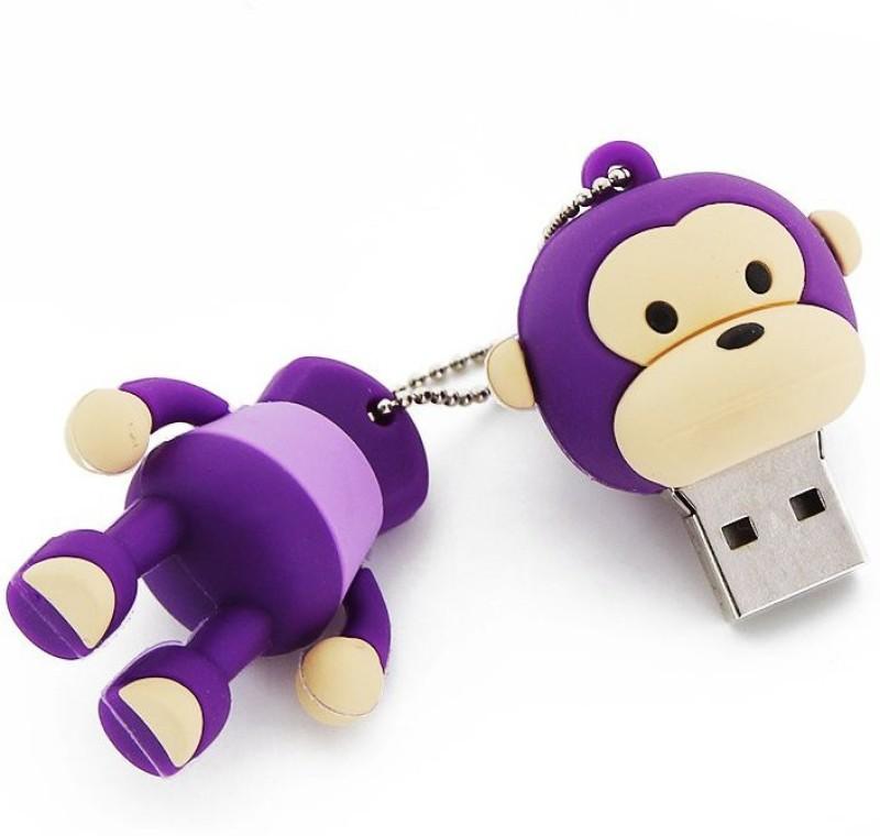 Tobo Cartoon Monkey Purple Thumb Drive Cute Animal, High Speed USB Storage (8 GB) 8 Pen Drive(Purple)