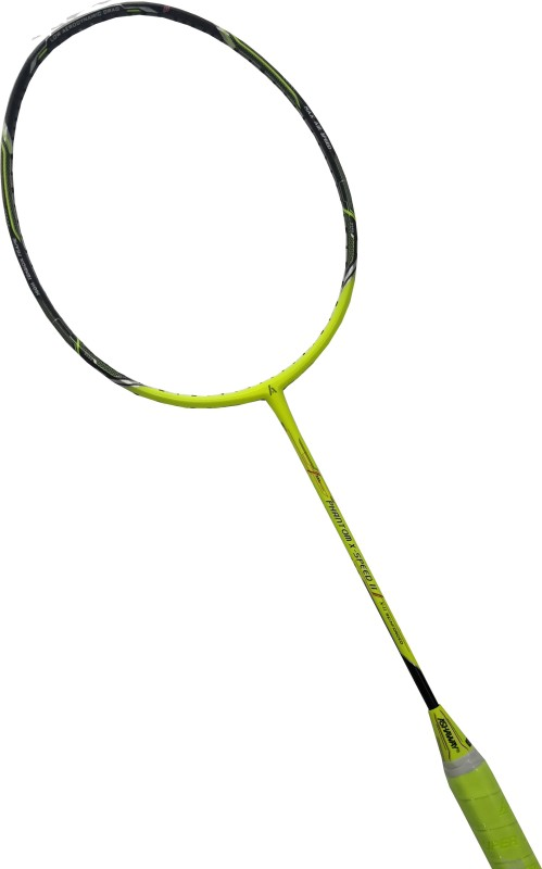 ASHAWAY Phantom X Speed II Yellow, Black, White Unstrung Badminton Racquet(G2 - 3.75 Inches, 86 g)