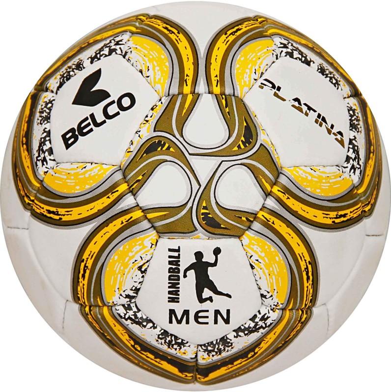 BELCO Men's Platina Yellow 3Ply Synthetic Rubber 32 Panel Handball Handball(Pack of 1, Yellow)
