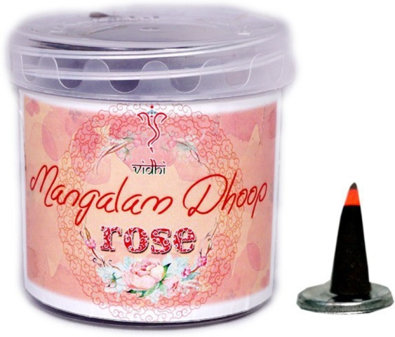 Vidhi Mangalam Dhoop cones (Rose) Rose Dhoop Cone(Pack of 3)