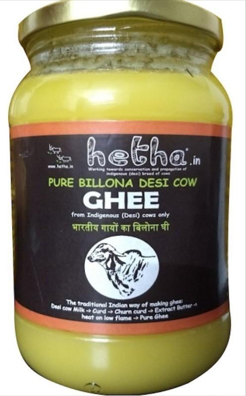 Hetha Pure Bilona Ghee from Indigenous(Desi) cows only Ghee 500 ml Mason Jar