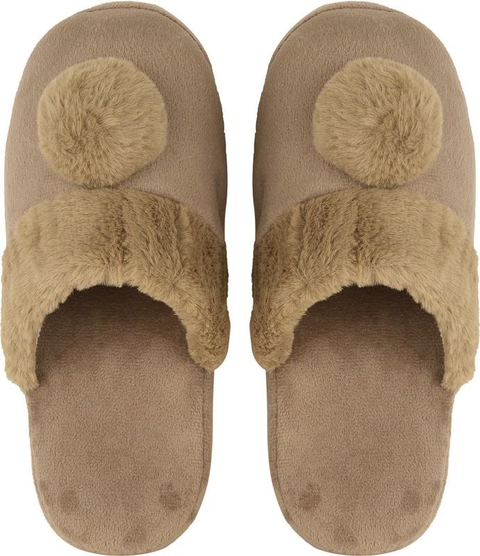 DRUNKEN Slipper For Women's Flip Flops House Slides Home Carpet Brown Sandals Slippers