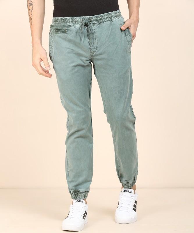 Peter England Slim Men Light Green Jeans