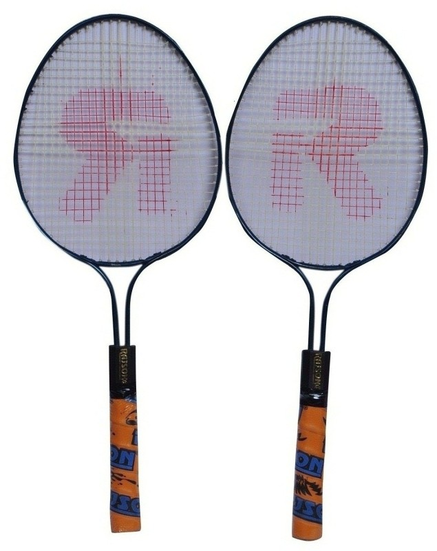 rajson Kids Double Rod Small Size Badminton Racquet Pair For Kids Boys 3 to 6 Years Multicolor Strung Badminton Racquet(G3 - 3.5 Inches, 350)