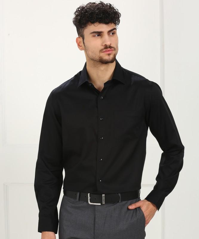 Arrow Men's Solid Formal Black Shirt