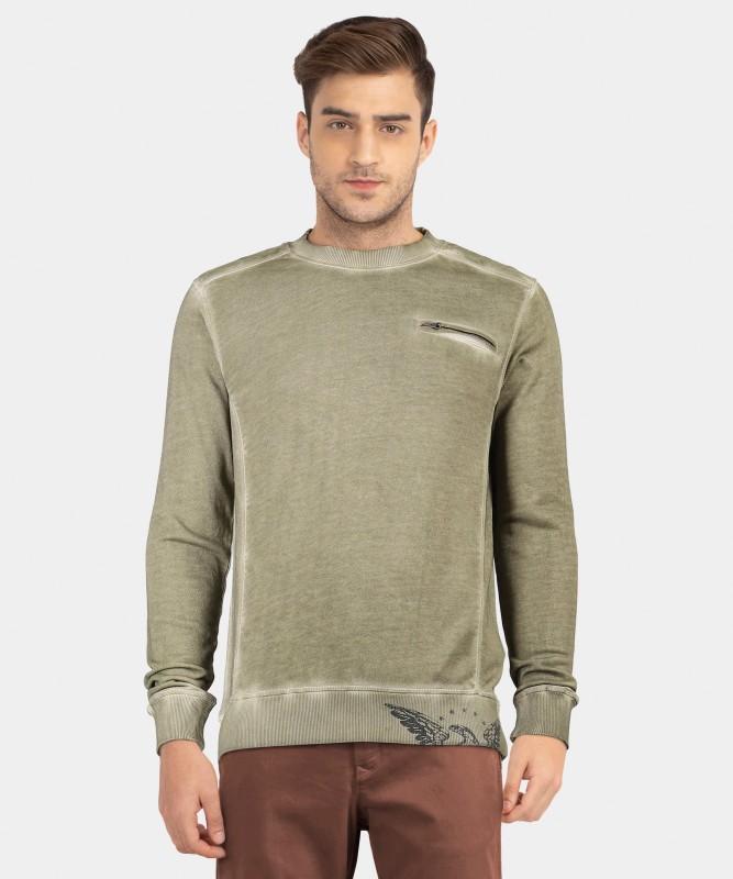 ARROW BLUE JEANS CO. Full Sleeve Solid Men's Sweatshirt