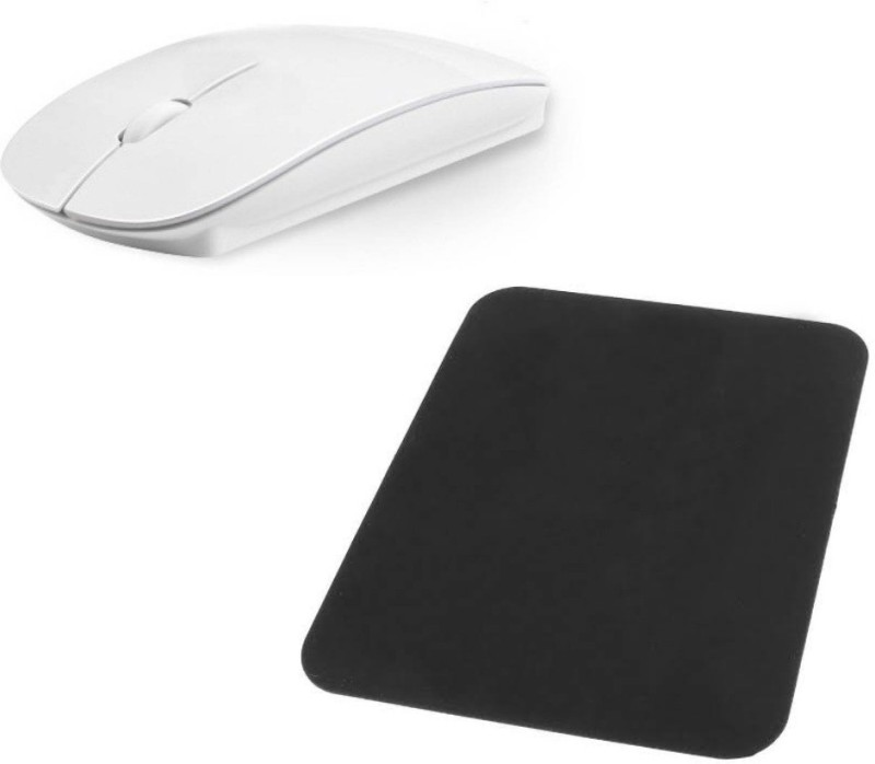 FU4 Premium series pad WITH Wireless Optical Mouse (USB, White) Combo Set
