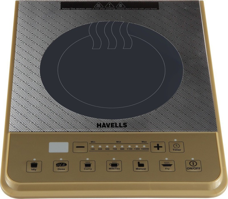 Havells Cook PT 1600W Induction Cooktop(Gold, Touch Panel)
