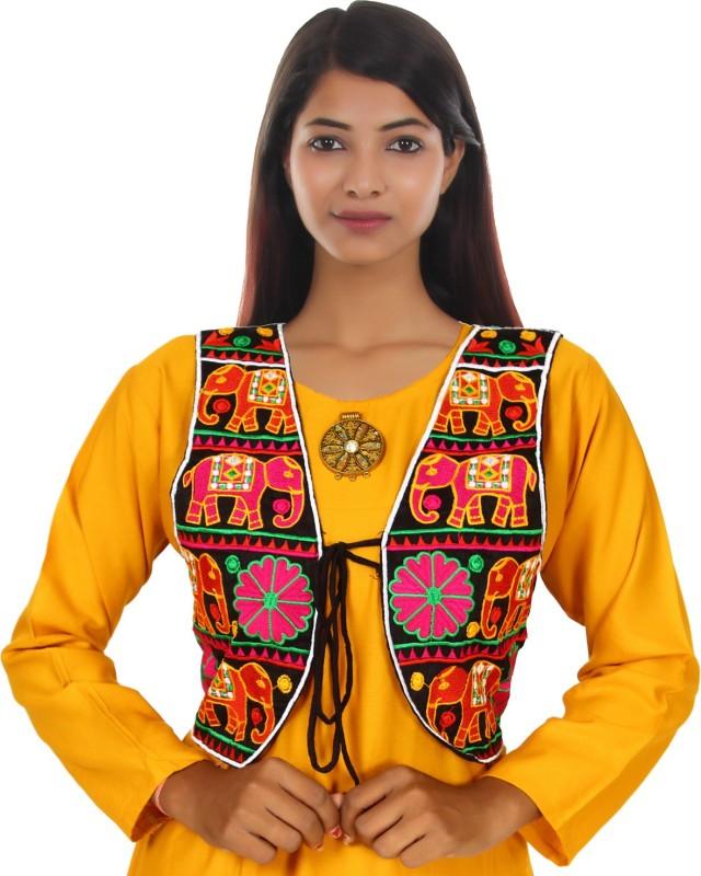Trendish Sleeveless Embroidered Women Jacket