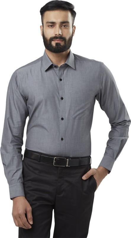 Raymond Men's Solid Formal Grey Shirt