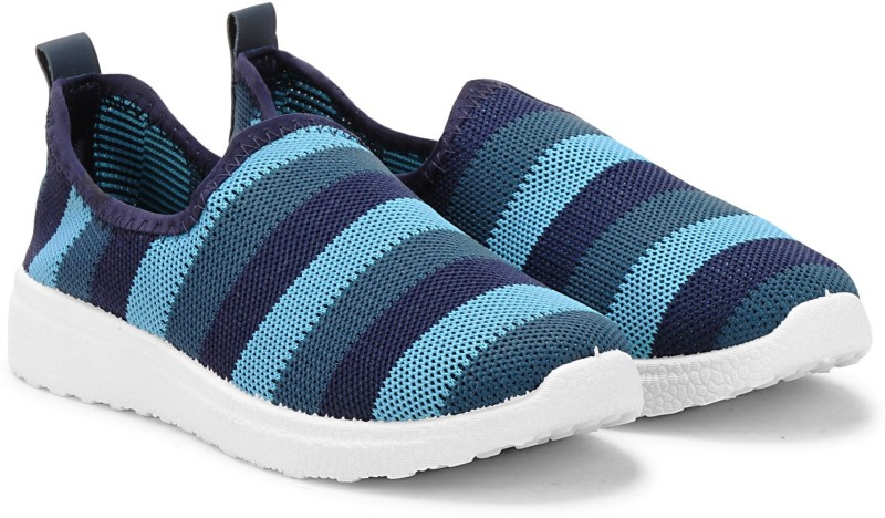 Fuel Women's Girls Knitted Upper Strips Designer Comfortable Slip On Casual Shoes Slip On Sneakers For Women(Navy)