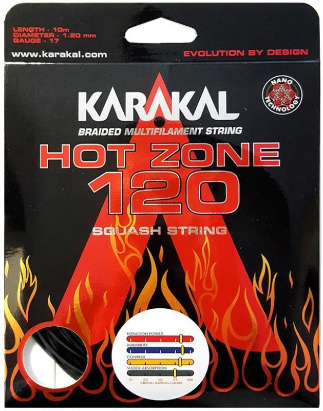 KARAKAL Hot Zone 120 17 Squash String - 1.20 m(Multicolor)
