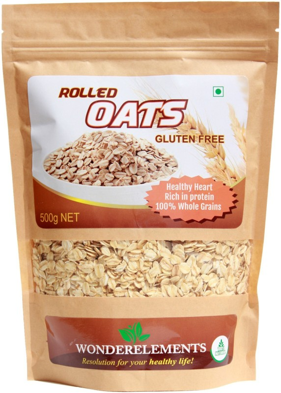 Wonderelements Gluten Free Rolled Oats Oats 500G(500 g, Pouch)