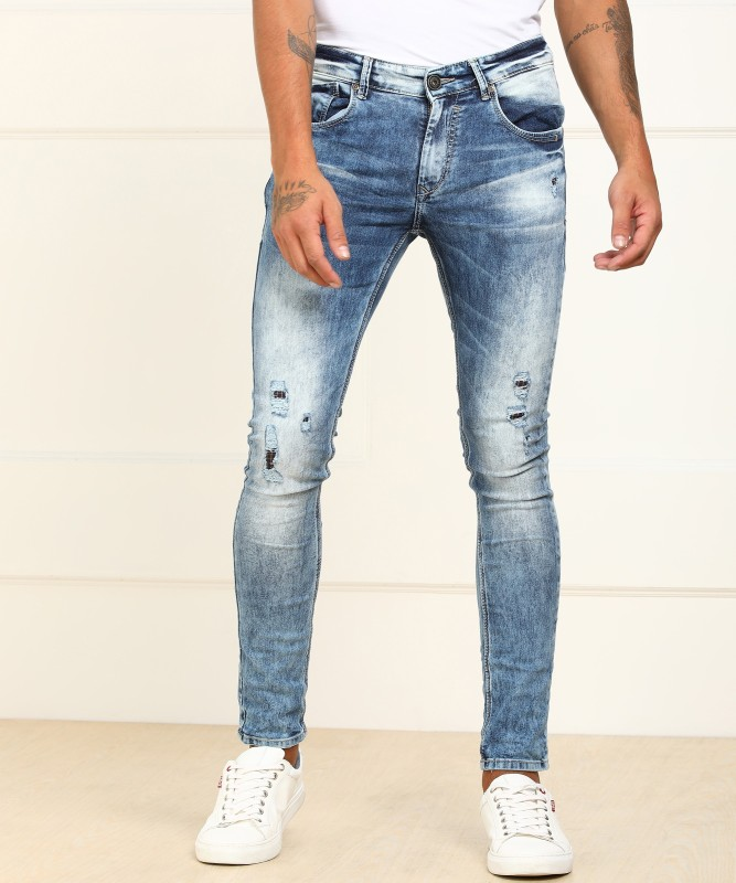 Spykar Skinny Men's Light Blue Jeans