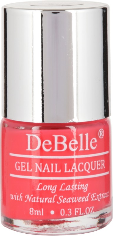 DeBelle Gel Nail Lacquer Bright pink -Nail polish 8ml Fushia Rose