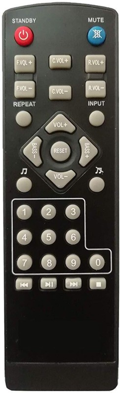 LipiWorld Letest Home Theater System Remote Control Compatible for ZEBRONICS Home Theater Remote Controller(Black)