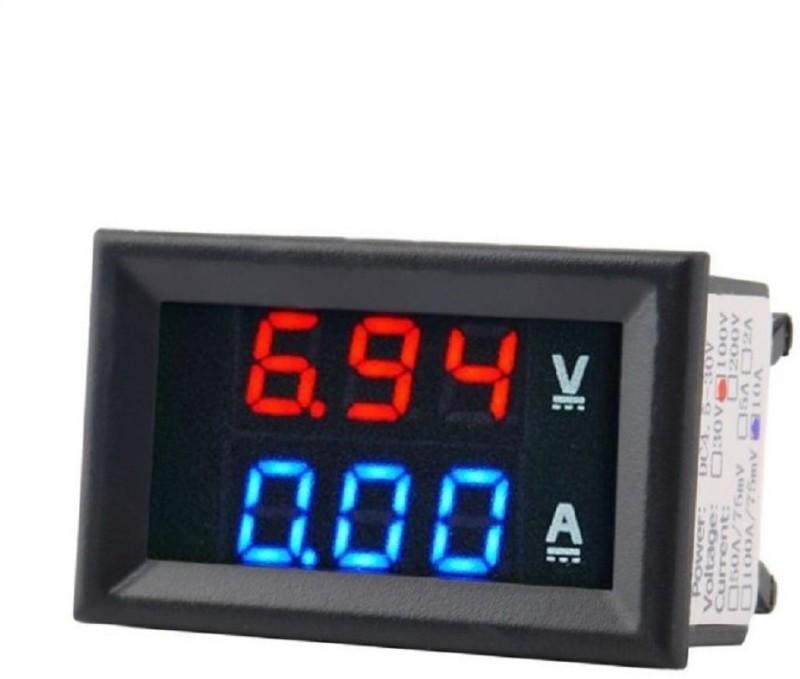 Robocraze DC 100V 50A Voltmeter Ammeter LED Amp Volt Current Meter Voltmeter(Digital)