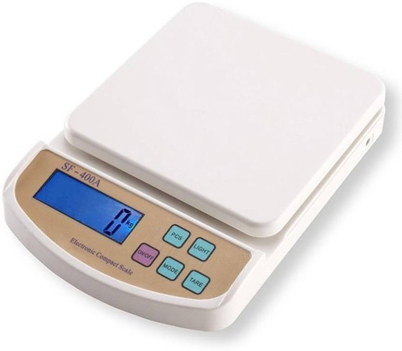 Starvook Eleveted Slimly Weighing Scale(White)