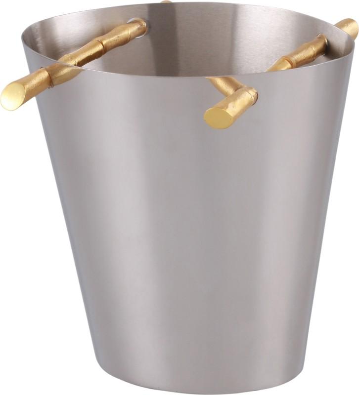 GRD International Designer Gold Bamboo Handle Wine Cooler Bottled Wine Cooler(Steel, 1 Bottles)